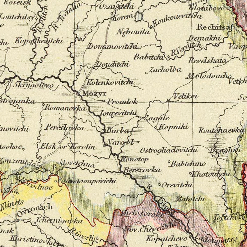 Belarus Atlas Map - 1883 - Letts Son and Co-exported